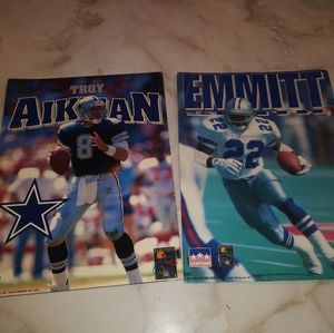 Dallas Cowboys Aikman/ Smith Starline Folders